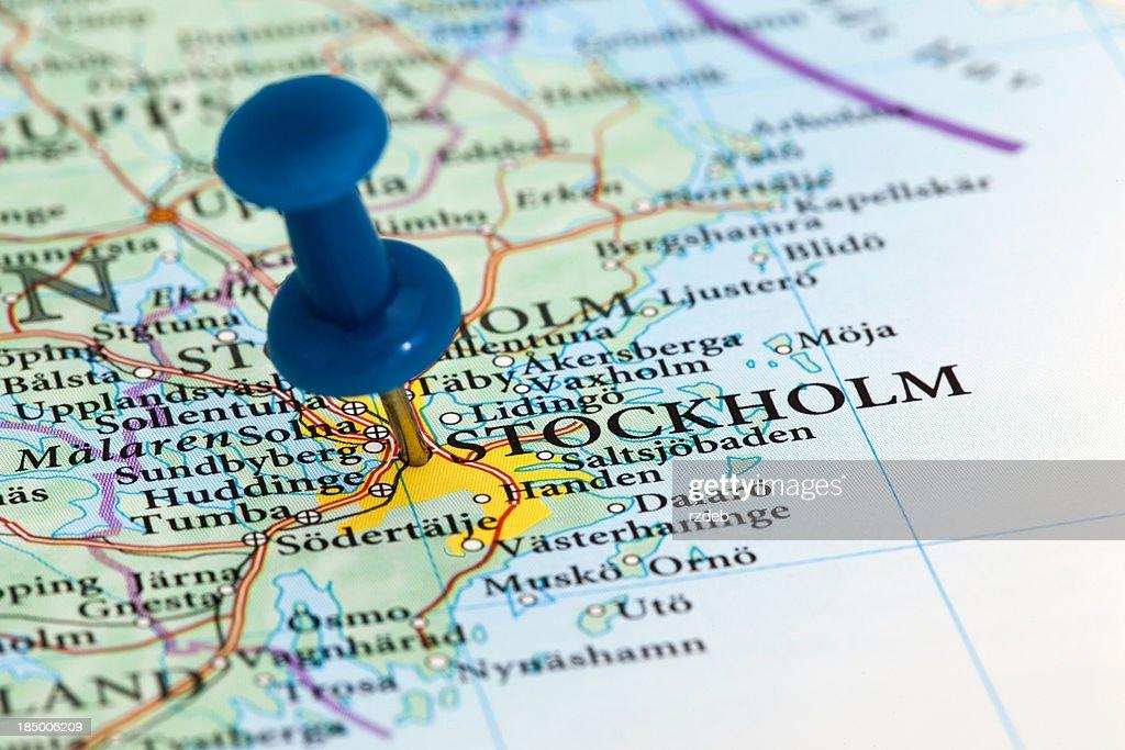 'Stockholm Map - Europe, Sweden'