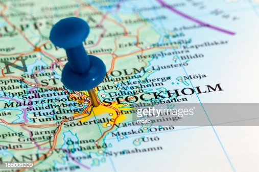 Stockholm Map Europe Sweden Stock Photo Getty Images - Sweden map of europe