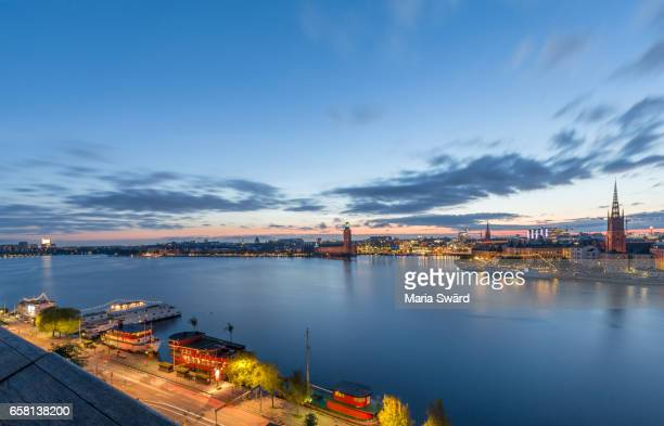 Stockholm -  Panoramic View Towards Stockholm City Hall and Old Town