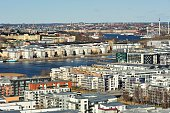 High angle view of Stockholm.