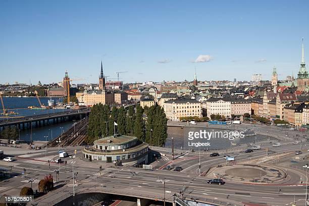 Horizonte de la ciudad de Estocolmo.