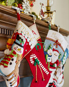 'Stockings were hung by the chimney with c
