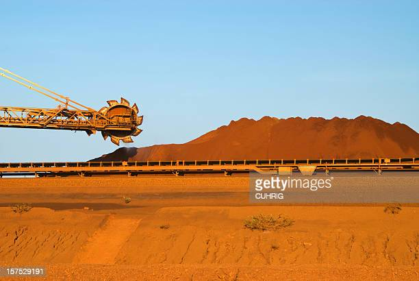 Stockpiling Iron Ore Mine