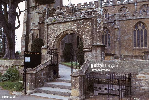 Stocks Outsde Martock Church Somerset 20th century Dating from 13th century and designated as a Grade I listed building The tower dates from around...