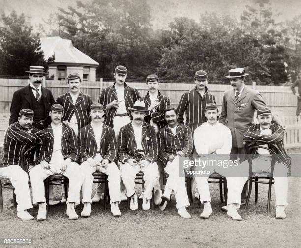 AE Stoddart's England cricket team en route to Australia circa 1897 Left to right back row Tom Richardson Bill Storer Jack Mason Frank Druce John...
