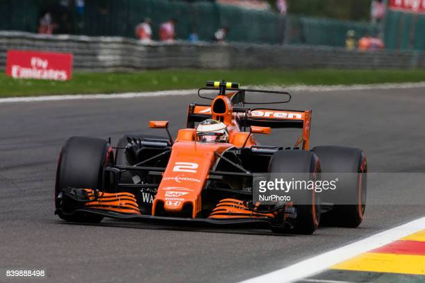 Stoffel from Belgium of McLaren Honda during the Formula One Belgian Grand Prix at Circuit de SpaFrancorchamps on August 27 2017 in Spa Belgium
