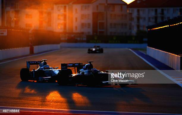 Stoffel Vandoorne of Belgium and ART Grand Prix drives during the GP2 Feature Race at Sochi Autodrom on October 10 2015 in Sochi Russia