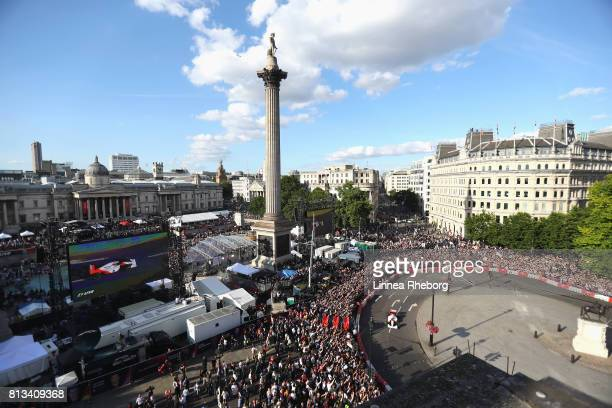 Stoffel Vandoorne of Belgium and McLaren drives the McLaren MP46 during F1 Live London at Trafalgar Square on July 12 2017 in London England F1 Live...