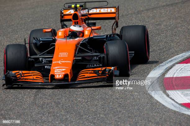 Stoffel Vandoorne of Belgium and McLaren during qualifying for the Formula One Grand Prix of China at Shanghai International Circuit on April 8 2017...