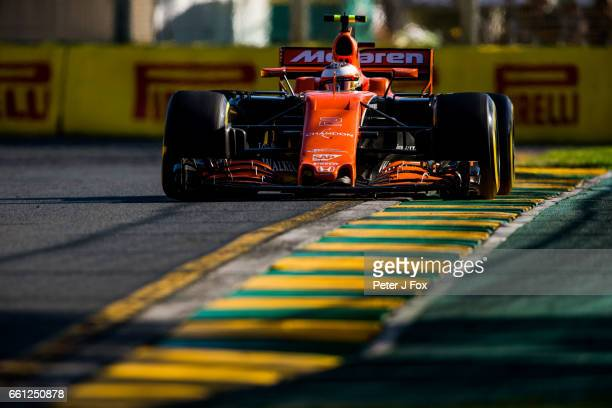Stoffel Vandoorne of Belgium and McLaren during the Australian Formula One Grand Prix at Albert Park on March 26 2017 in Melbourne Australia
