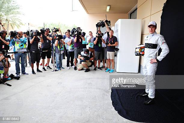 Stoffel Vandoorne of Belgium and McLaren Honda poses for a photo ahead of practice for the Bahrain Formula One Grand Prix at Bahrain International...