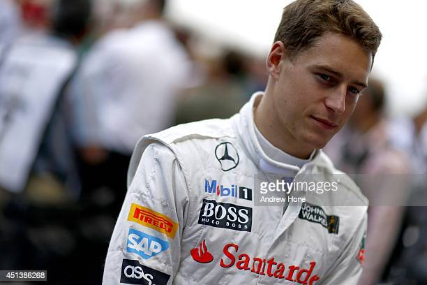 Stoffel Vandoorne of Belgium and McLaren Mercedes is seen during the Goodwood Festival of Speed at Goodwood House on June 28 2014 in Chichester...