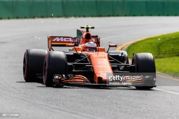 Stoffel Vandoorne of Belgium driving for McLaren Honda on Friday Free Practice during the 2017 Rolex Australian Formula 1 Grand Prix at Albert Park...