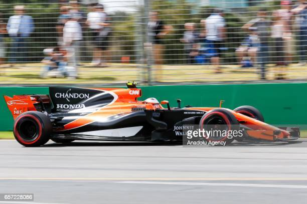 Stoffel Vandoorne of Belgium driving for McLaren Honda on Friday Free Practice during the 2017 Rolex Australian Formula 1 Grand Prix at Albert Park...