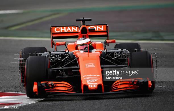 Stoffel Vandoorne of Belgium driving the McLaren Honda Formula 1 Team McLaren MCL32 on track during day two of Formula One winter testing at Circuit...