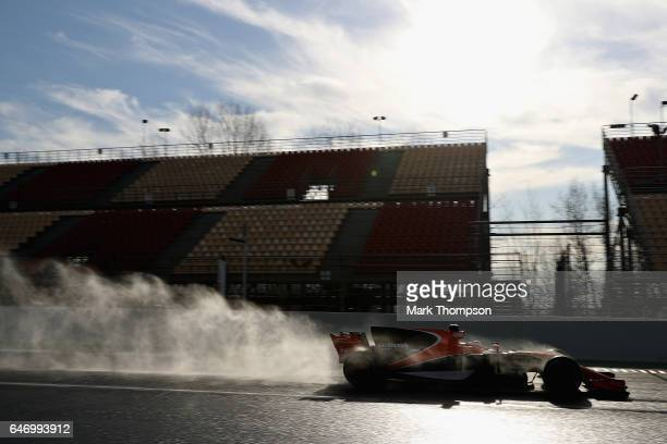 Stoffel Vandoorne of Belgium driving the McLaren Honda Formula 1 Team McLaren MCL32 on track during day four of Formula One winter testing at Circuit...