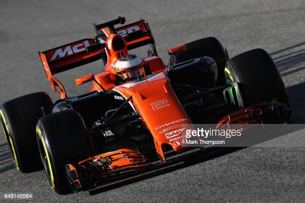 Stoffel Vandoorne of Belgium driving the McLaren Honda Formula 1 Team McLaren MCL32 on track during day one of Formula One winter testing at Circuit...