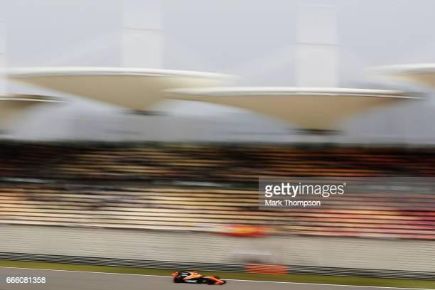 Stoffel Vandoorne of Belgium driving the McLaren Honda Formula 1 Team McLaren MCL32 on track during final practice for the Formula One Grand Prix of...