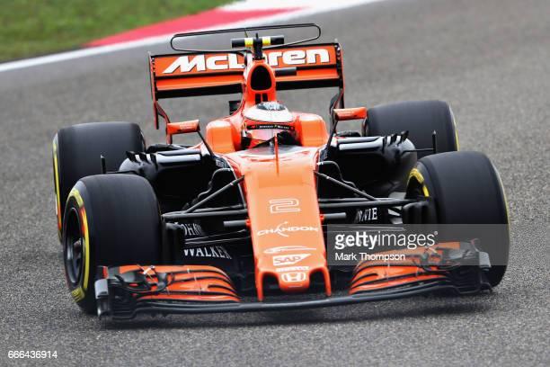 Stoffel Vandoorne of Belgium driving the McLaren Honda Formula 1 Team McLaren MCL32 on track during the Formula One Grand Prix of China at Shanghai...