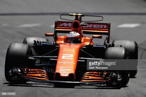 Stoffel Vandoorne of Belgium driving the McLaren Honda Formula 1 Team McLaren MCL32 on track during the Monaco Formula One Grand Prix at Circuit de...