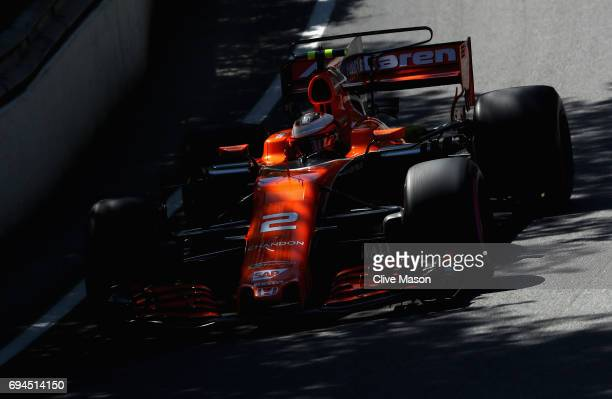 Stoffel Vandoorne of Belgium driving the McLaren Honda Formula 1 Team McLaren MCL32 on track during final practice for the Canadian Formula One Grand...