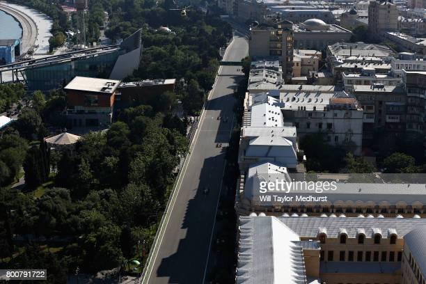 Stoffel Vandoorne of Belgium driving the McLaren Honda Formula 1 Team McLaren MCL32 on track during the Azerbaijan Formula One Grand Prix at Baku...