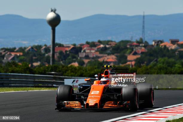 Stoffel Vandoorne of Belgium driving the McLaren Honda Formula 1 Team McLaren MCL32 on track during the Formula One Grand Prix of Hungary at...