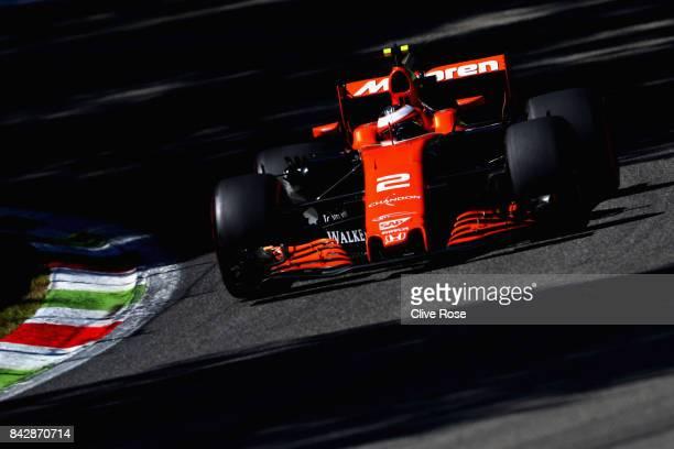Stoffel Vandoorne of Belgium driving the McLaren Honda Formula 1 Team McLaren MCL32 on track during the Formula One Grand Prix of Italy at Autodromo...