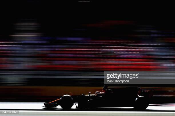 Stoffel Vandoorne of Belgium driving the McLaren Honda Formula 1 Team McLaren MCL32 on track during practice for the Formula One Grand Prix of...