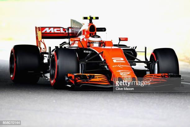 Stoffel Vandoorne of Belgium driving the McLaren Honda Formula 1 Team McLaren MCL32 on track during practice for the Formula One Grand Prix of Japan...