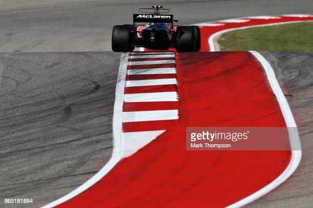 Stoffel Vandoorne of Belgium driving the McLaren Honda Formula 1 Team McLaren MCL32 on track during the United States Formula One Grand Prix at...