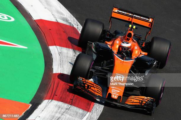 Stoffel Vandoorne of Belgium driving the McLaren Honda Formula 1 Team McLaren MCL32 on track during practice for the Formula One Grand Prix of Mexico...
