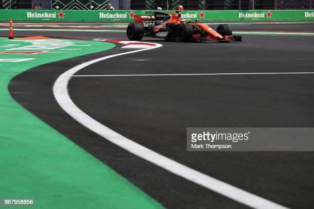 Stoffel Vandoorne of Belgium driving the McLaren Honda Formula 1 Team McLaren MCL32 on track during the Formula One Grand Prix of Mexico at Autodromo...