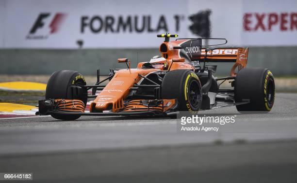 Stoffel Vandoorne of McLaren Honda on track during the Formula One Grand Prix of China at Shanghai International Circuit on April 9 2017 in Shanghai...