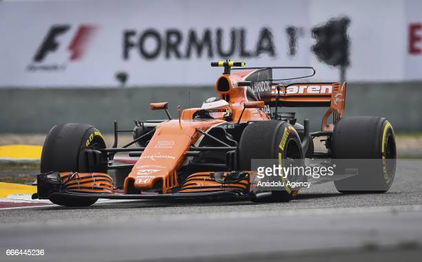 Stoffel Vandoorne of McLaren Honda on track during the Formula One Grand Prix of China at Shanghai International Circuit on April 9 2017 in Shanghai...