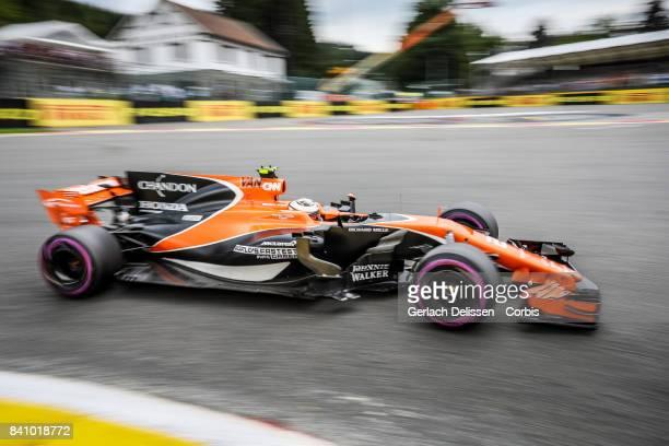 Stoffel Vandoorne of the McLaren Honda Team at Circuit de SpaFrancorchamps on August 24 2017 in Spa Belgium