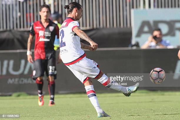 Stoian Adrian of Crotone scores the goal 21 during the Serie A match between Cagliari Calcio and FC Crotone at Stadio Sant'Elia on October 2 2016 in...