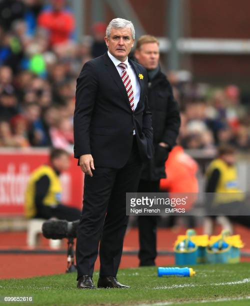 Stoke City manager Mark Hughes and Southampton manager Ronald Koeman