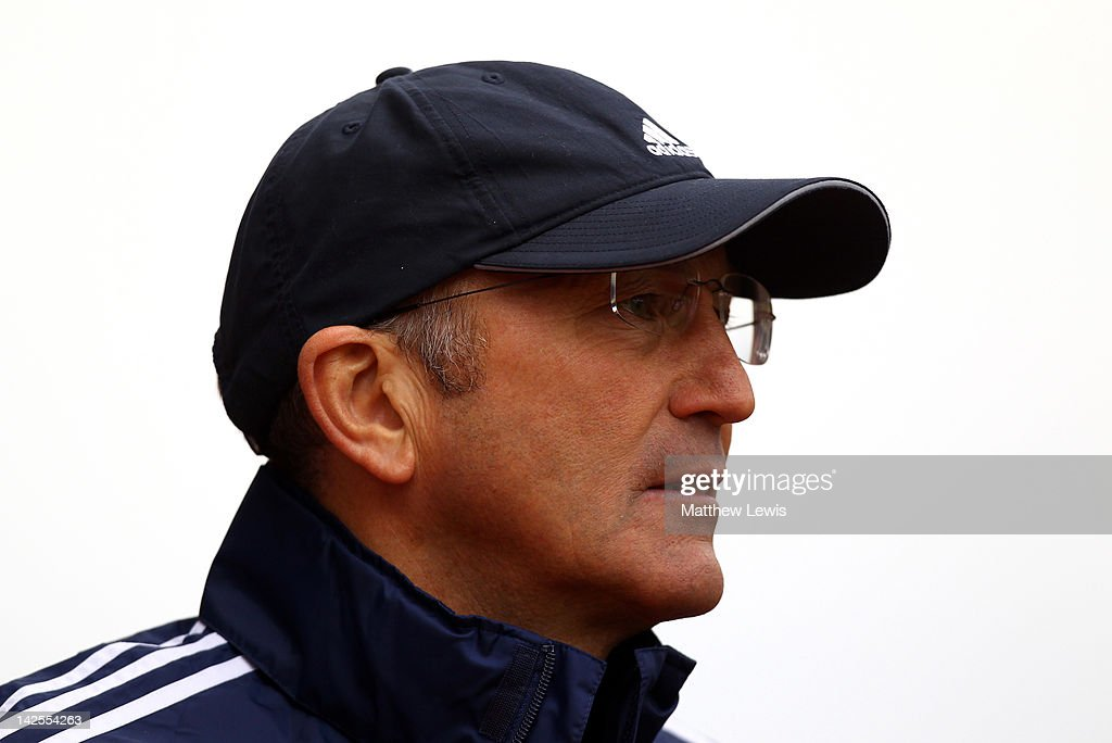Stoke City Manager <a gi-track='captionPersonalityLinkClicked' href=/galleries/search?phrase=Tony+Pulis&family=editorial&specificpeople=2225291 ng-click='$event.stopPropagation()'>Tony Pulis</a> looks on prior to the Barclays Premier League match between Stoke City and Wolverhampton Wanderers at the Britannia Stadium on April 7, 2012 in Stoke on Trent, England.
