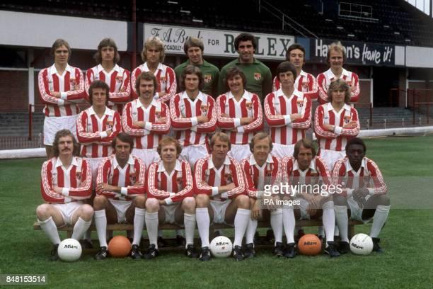 Stoke City squad for the 1977/78 season David Gregory Ian Bowers David Goodwin Roger Jones Peter Shilton Paul Johnson and John Lumsdon Steve...