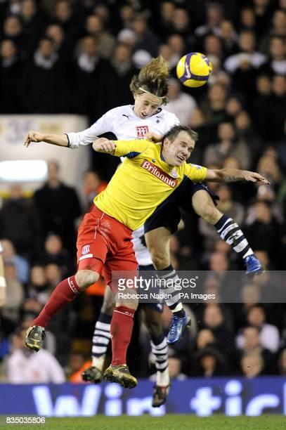 Stoke City's Glenn Whelan and Tottenham Hotspur's Luka Modric battle for the ball