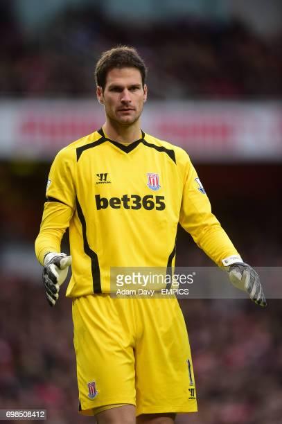 Stoke City's goalkeeper Asmir Begovic
