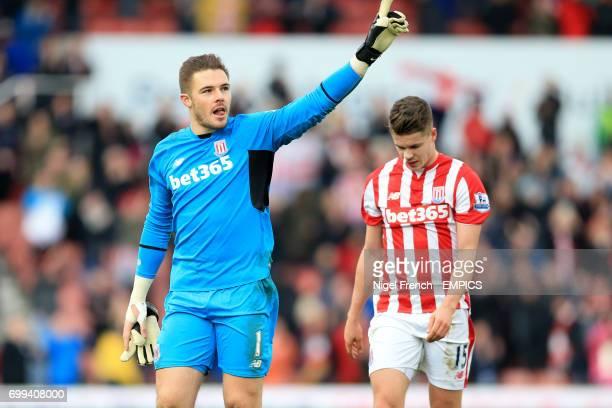 Stoke City's Jack Butland and Marco Van Ginkel