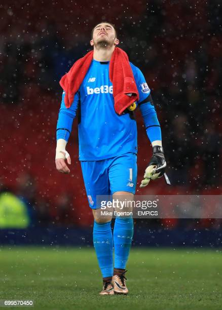 Stoke City's Jack Butland trudges off the pitch at the end of the match