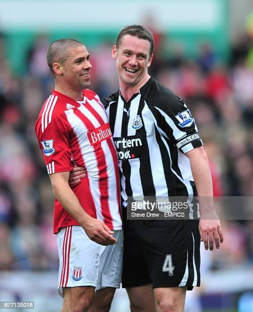 Stoke City's Jonathan Walters and Newcastle United's Kevin Nolan