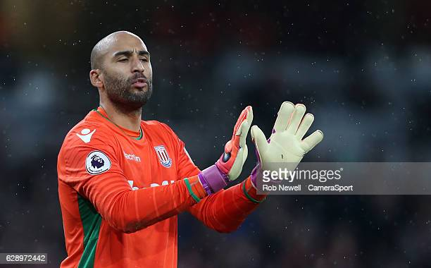 Stoke City's Lee Grant during the Premier League match between Arsenal and Stoke City at Emirates Stadium on December 10 2016 in London England