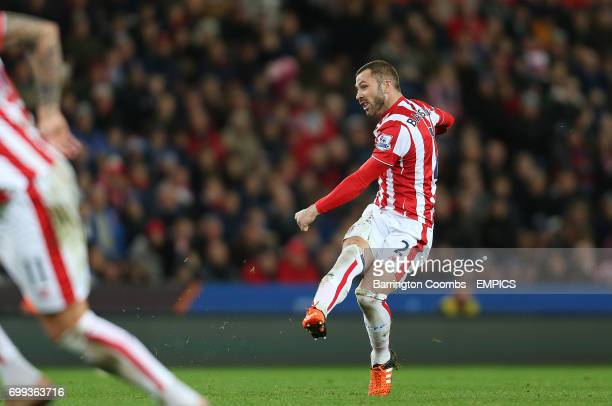 Stoke City's Phil Bardsley scores the 2nd goal against Sheffield Wednesday