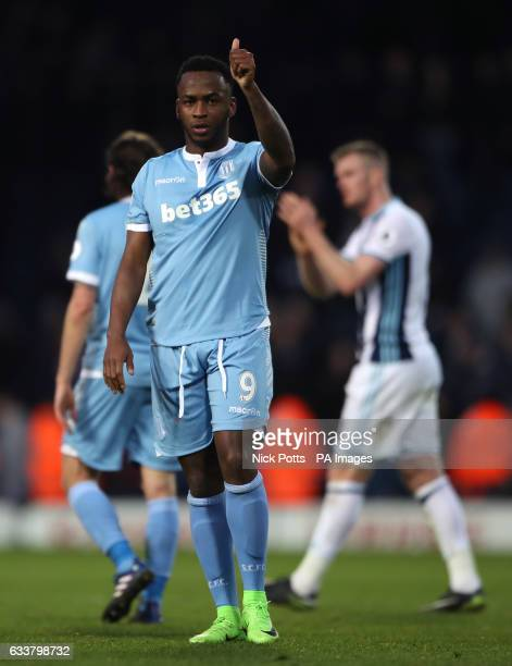 Stoke City's Saido Berahino after the final whistle during the Premier League match at The Hawthorns West Bromwich