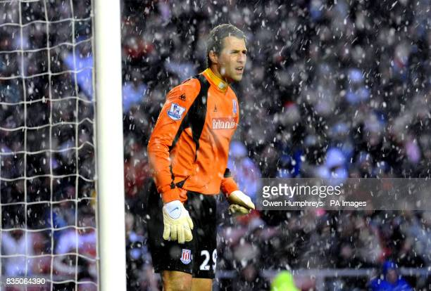 Stoke City's Thomas Sorensen during the Barclays Premier League match at the Stadium of Light Sunderland