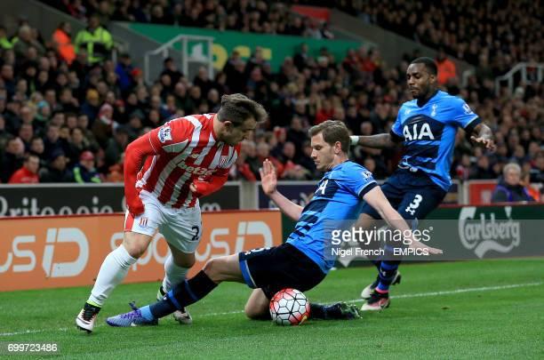 Stoke City's Xherdan Shaqiri and Tottenham Hotspur's Jan Vertonghen in action